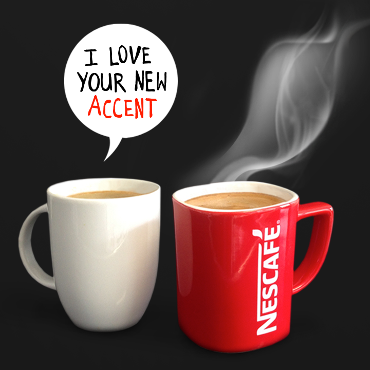Nescafé's new logo is designed to resemble a steaming mug of coffee.